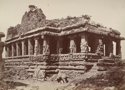 Iwullee. Ruined temple. From the south-east. [Durga Temple, Aihole.]